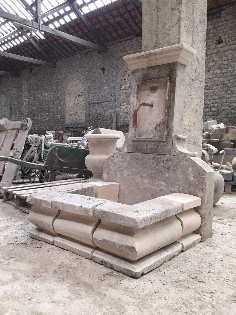 French Limestone Fountain, 20th Century, France For Sale 1