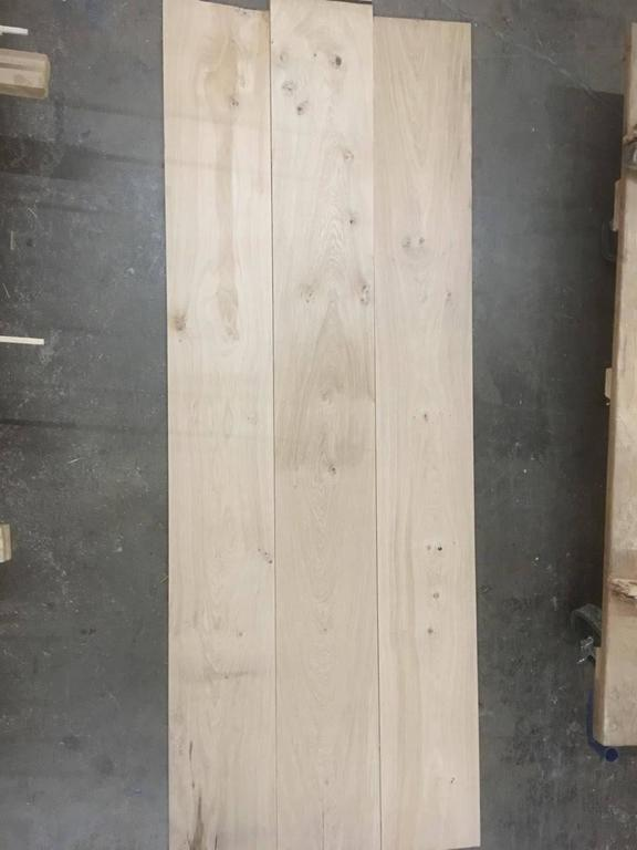 Hand-Carved French Wood Oak Flooring 20th Century Antique Finishing, France For Sale
