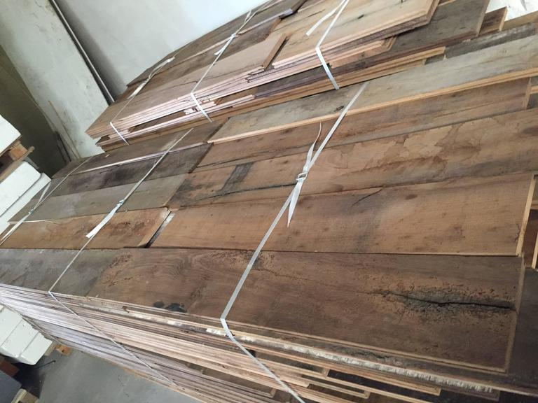 Hand-Carved French Antique Oak 17th-19th Century Solid Wood Flooring, Original, France For Sale