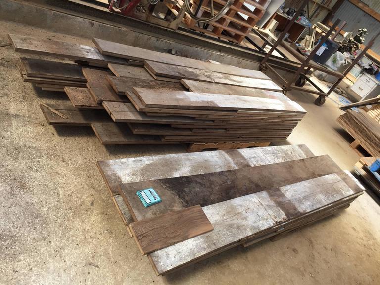 Original French Antique Wood Oak Flooring, 17th-19th Century For Sale 3