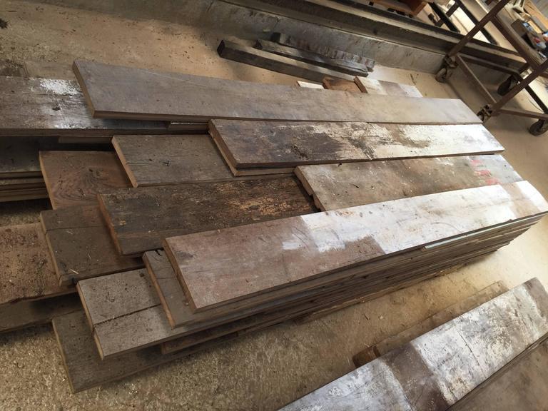 Original French Antique Wood Oak Flooring, 17th-19th Century For Sale 4