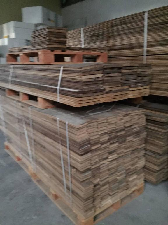 Original French Antique Wood Oak Flooring, 17th-18th Century, France In Good Condition For Sale In LOS ANGELES, CA