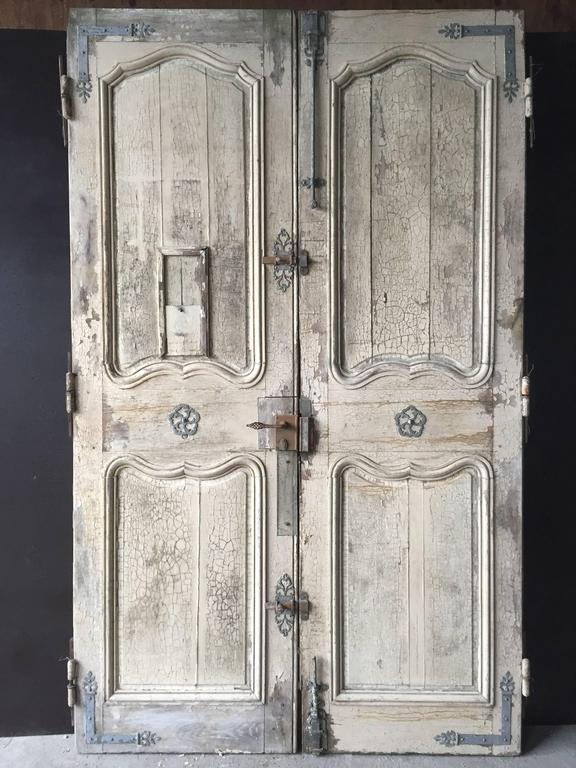 French chateaux entrance doors and fittings original 18th century france in good condition