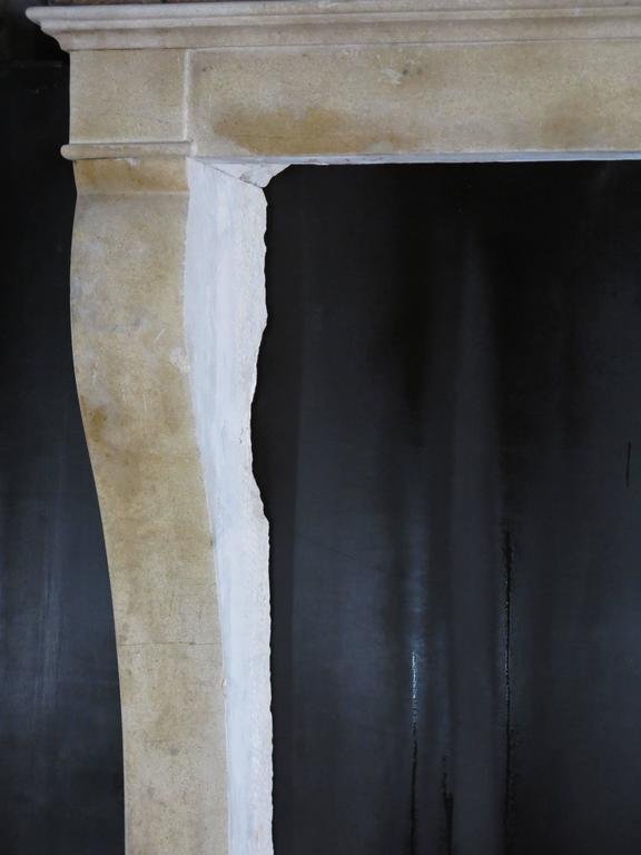 Original French antique Louis Philippe style fireplace, hand-carved in hard-stone from Paris, circa 1800s, France.