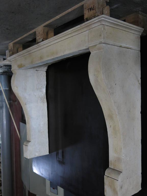 French Antique Louis Philippe Style Fireplace Hand-Carved, 1800s, Paris, France In Good Condition For Sale In LOS ANGELES, CA
