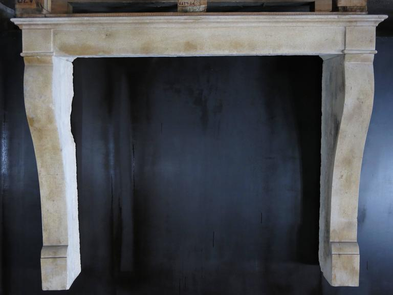 Modern French Antique Louis Philippe Style Fireplace Hand-Carved, 1800s, Paris, France For Sale