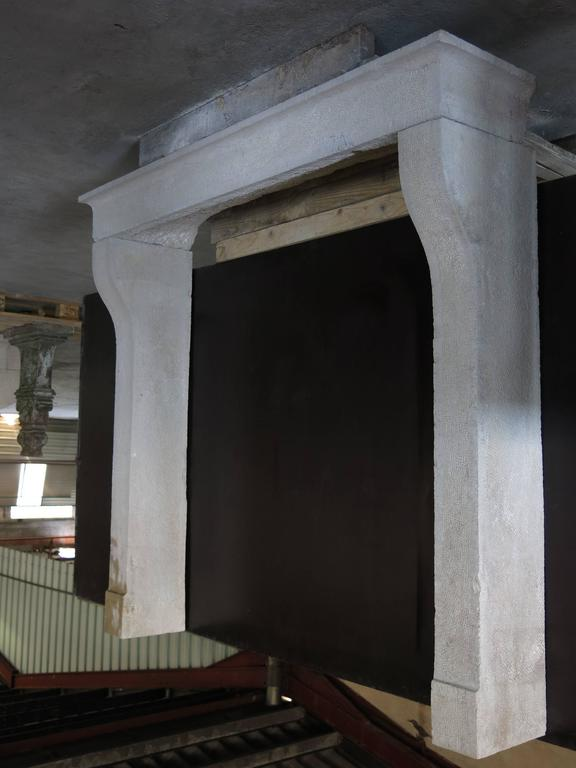 French country antique fireplace hard stone circa 1790s for French country stone fireplace