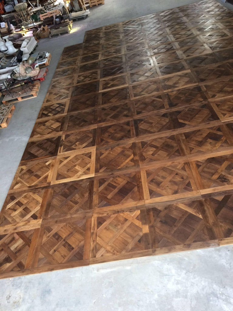 french antique wood oak parquet de versailles handmade french tradition for sale at 1stdibs. Black Bedroom Furniture Sets. Home Design Ideas
