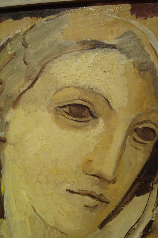 French Portrait of a Woman with Bust, 1932 by Maria Lagorio For Sale