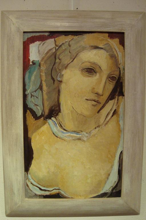 Mid-Century Modern Portrait of a Woman with Bust, 1932 by Maria Lagorio For Sale