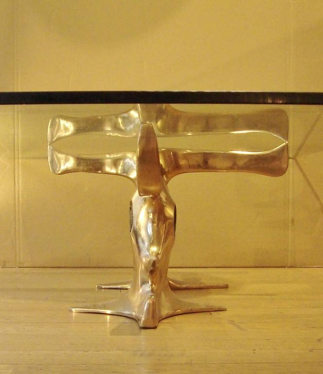 Gilt Bronze Coffee Table, 1973 by Victor Roman 6