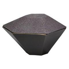 Geometric Grey Shagreen Box