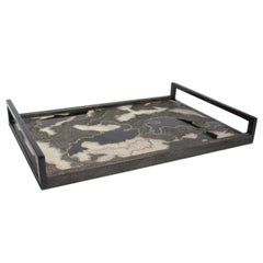 Shagreen, Penshell and Bronze Camouflage Tray