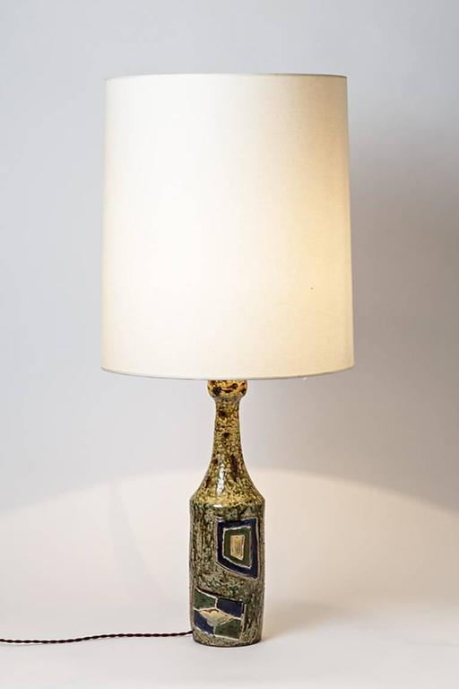 Late 20th Century Abstract Stoneware Lamp by Mallet La Borne, 1970 For Sale