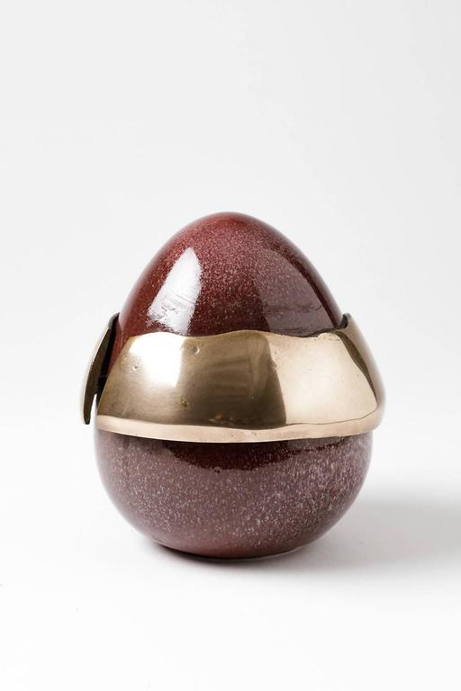 Elegant egg forme by the artist Tim Orr.
