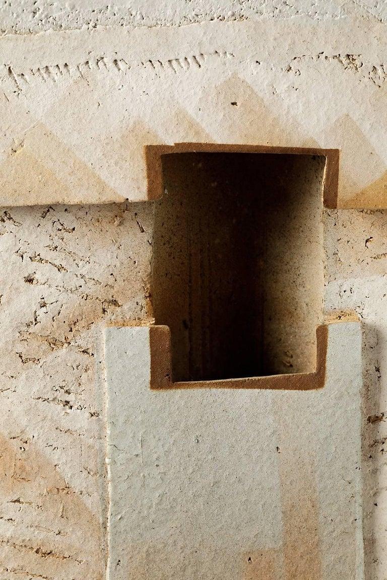 Sculptural Wall Ceramic Panel By Jacqueline Paul Dauphin La Borne