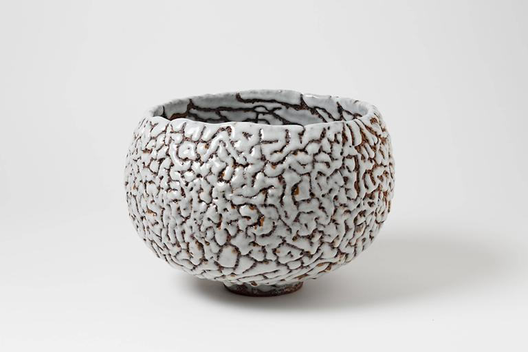 Contemporary Ceramic Cup by Rozenn Bigot In Excellent Condition For Sale In Neuilly-en- sancerre, FR