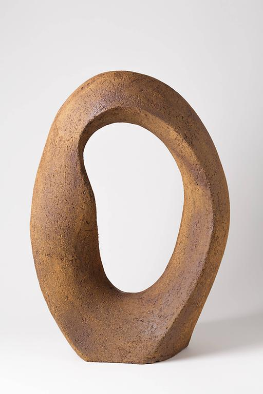 An important stoneware sculpture by Tim Orr. Handwritten signature at the base. Circa 1970-1980.  One pair is avaible.