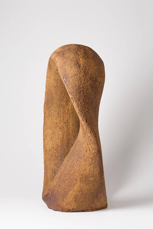 French Important Stoneware Sculpture by Tim Orr, circa 1970-1980 For Sale