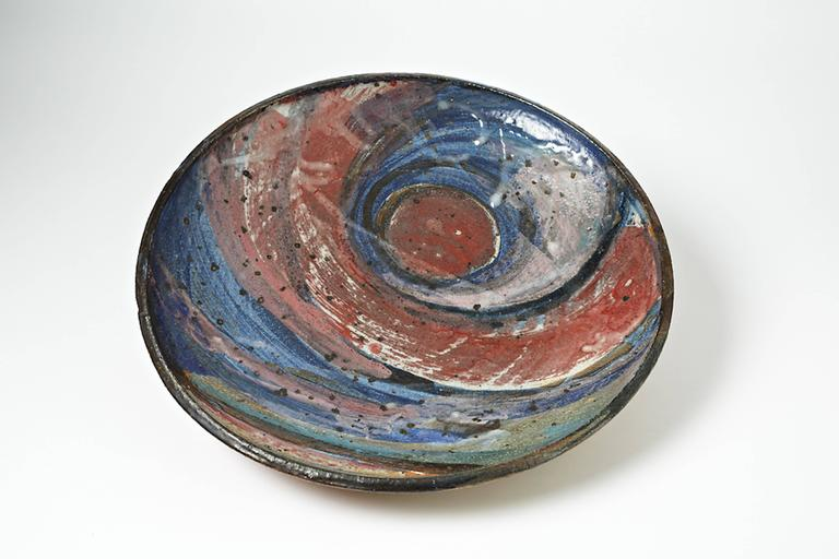 An important ceramic plate by Alain Gaudebert.