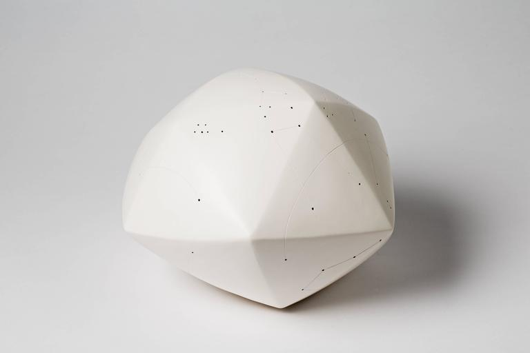 French Elegant and Cosmic Ceramic Sculpture by Nadia Pasquer, 2016 For Sale