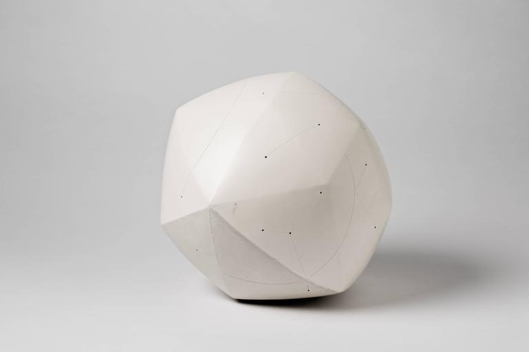 French Elegant and Cosmic Ceramic Sculpture