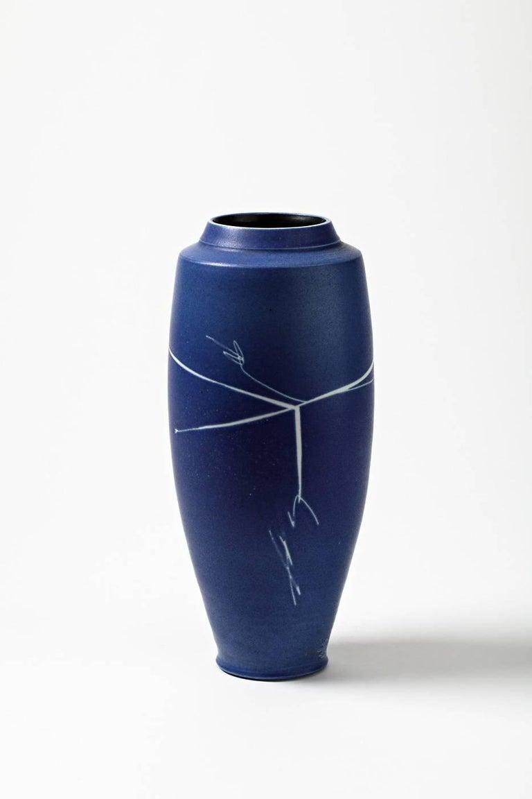 Porcelain Vase By Robert Deblander Circa 1990 For Sale At