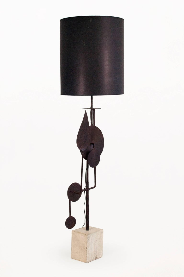 Mid-Century Modern Very Large Sculptural Table Lamp by Giovanni Banci, circa 1970, Italy For Sale