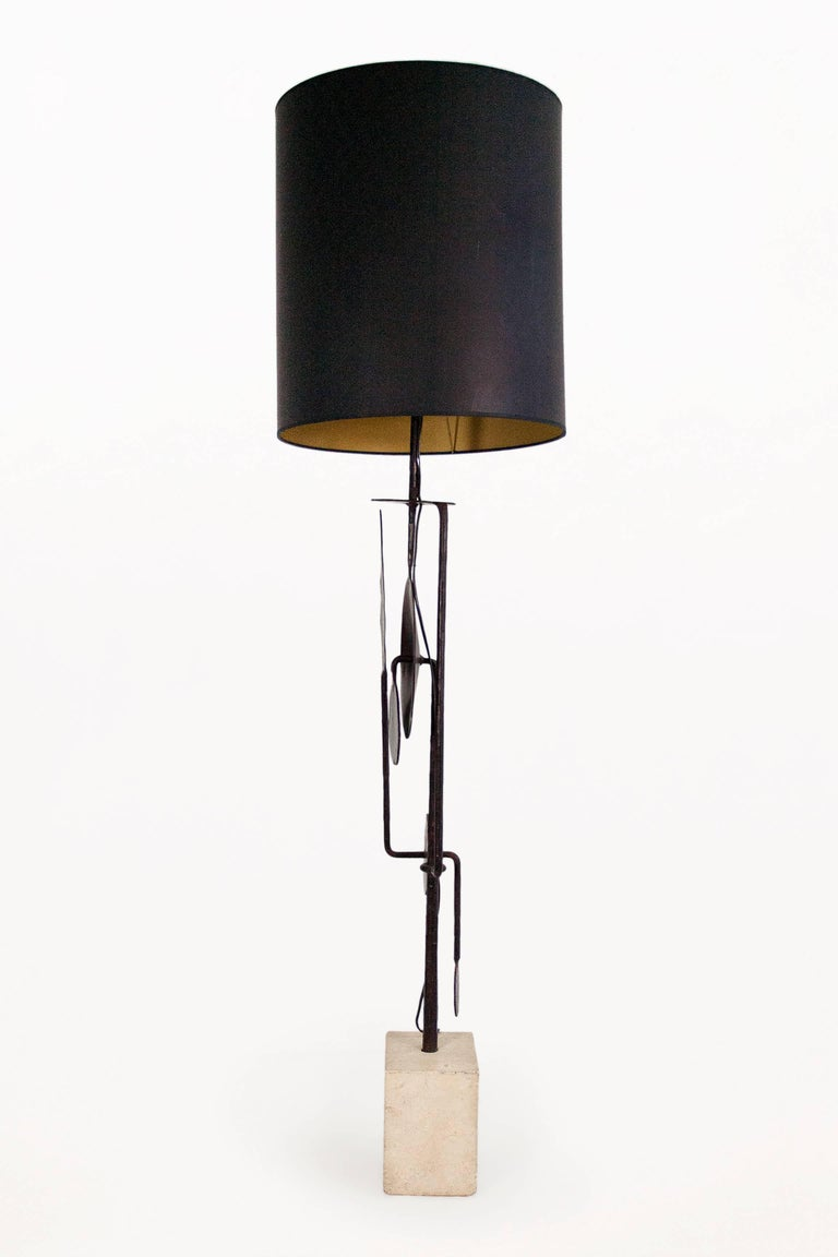 Italian Very Large Sculptural Table Lamp by Giovanni Banci, circa 1970, Italy For Sale