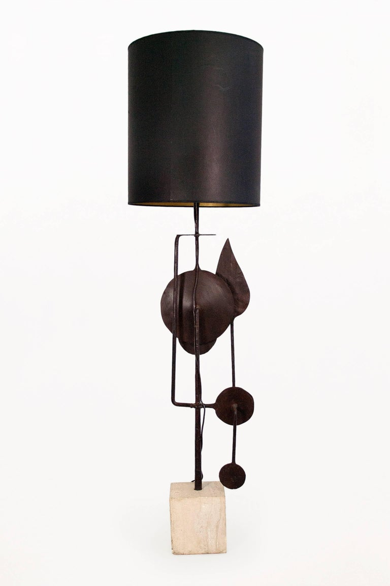 Very Large Sculptural Table Lamp by Giovanni Banci, circa 1970, Italy In Good Condition For Sale In Girona, Spain