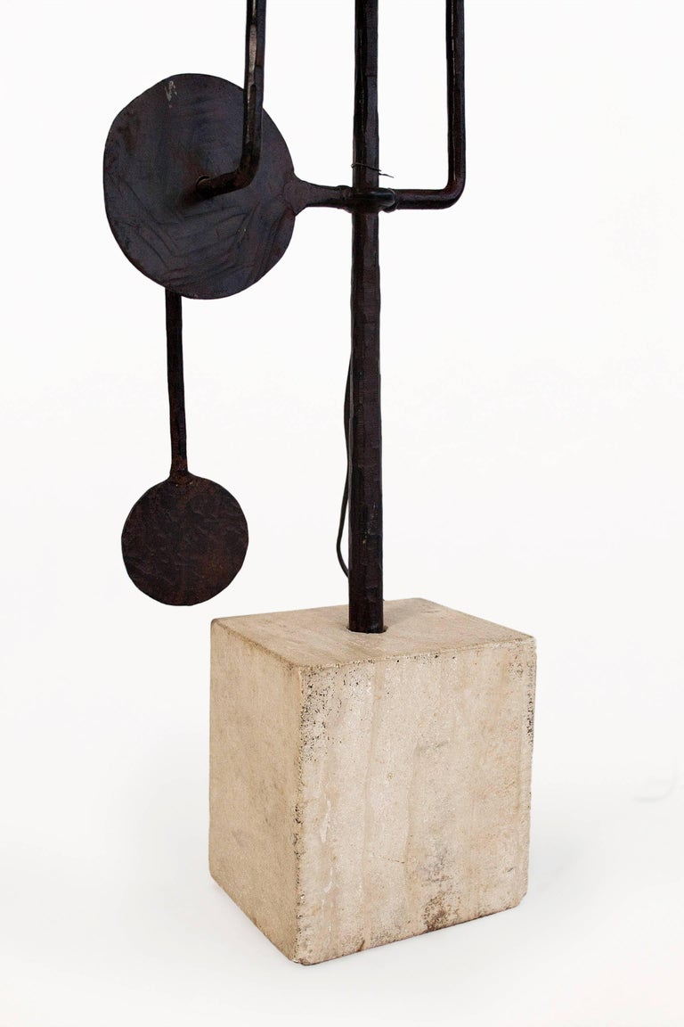 Travertine Very Large Sculptural Table Lamp by Giovanni Banci, circa 1970, Italy For Sale