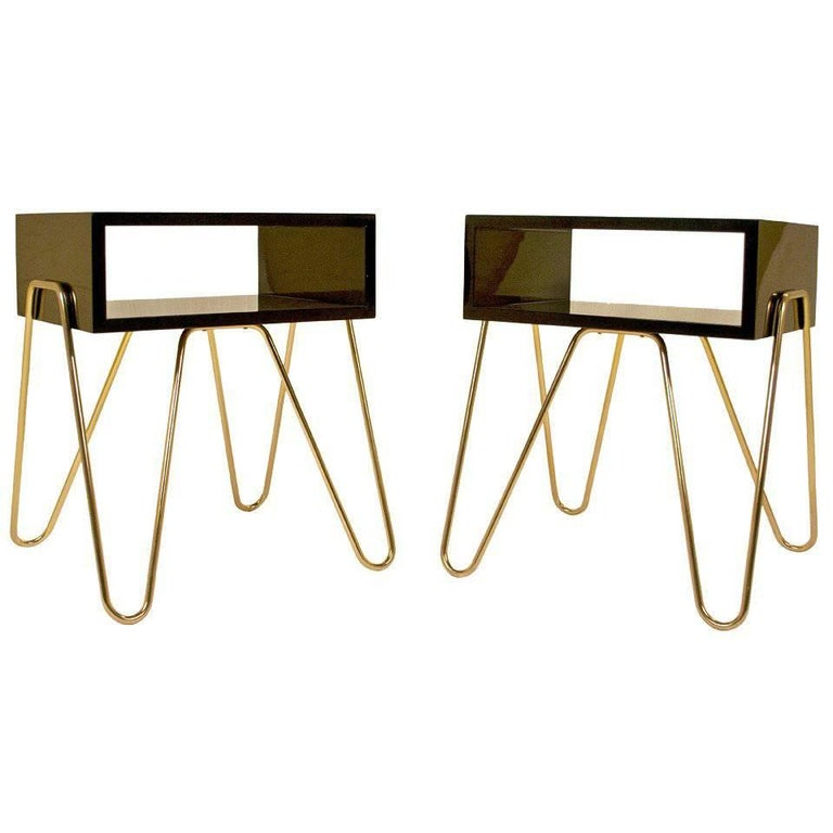 Pair of Bedside Tables by Adolfo Abejon, circa 2000s, Spain