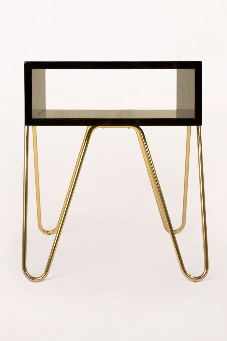 Mid-Century Modern Pair of Bedside Tables by Adolfo Abejon, circa 2000s, Spain