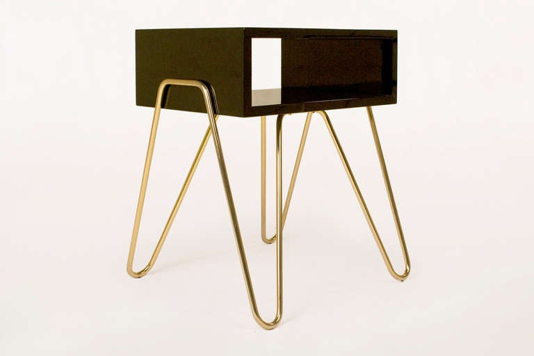 Spanish Pair of Bedside Tables by Adolfo Abejon, circa 2000s, Spain