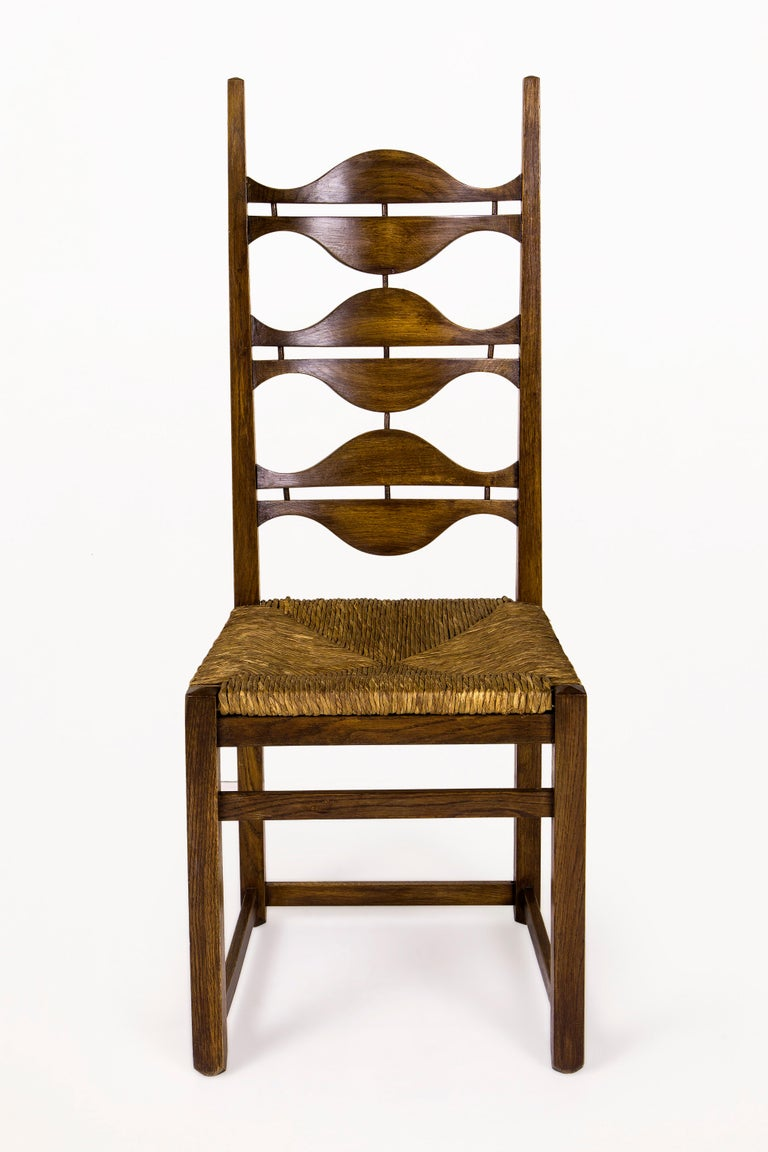 Set of eight Jordi Vilanova dining chairs Sculptural solid ash circa 1950, Spain Very good vintage condition Jordi Vilanova Bosch (Barcelona, 1925-1998) was a Catalan Interior designer and cabinetmaker. In 1939, he entered the School of Art and