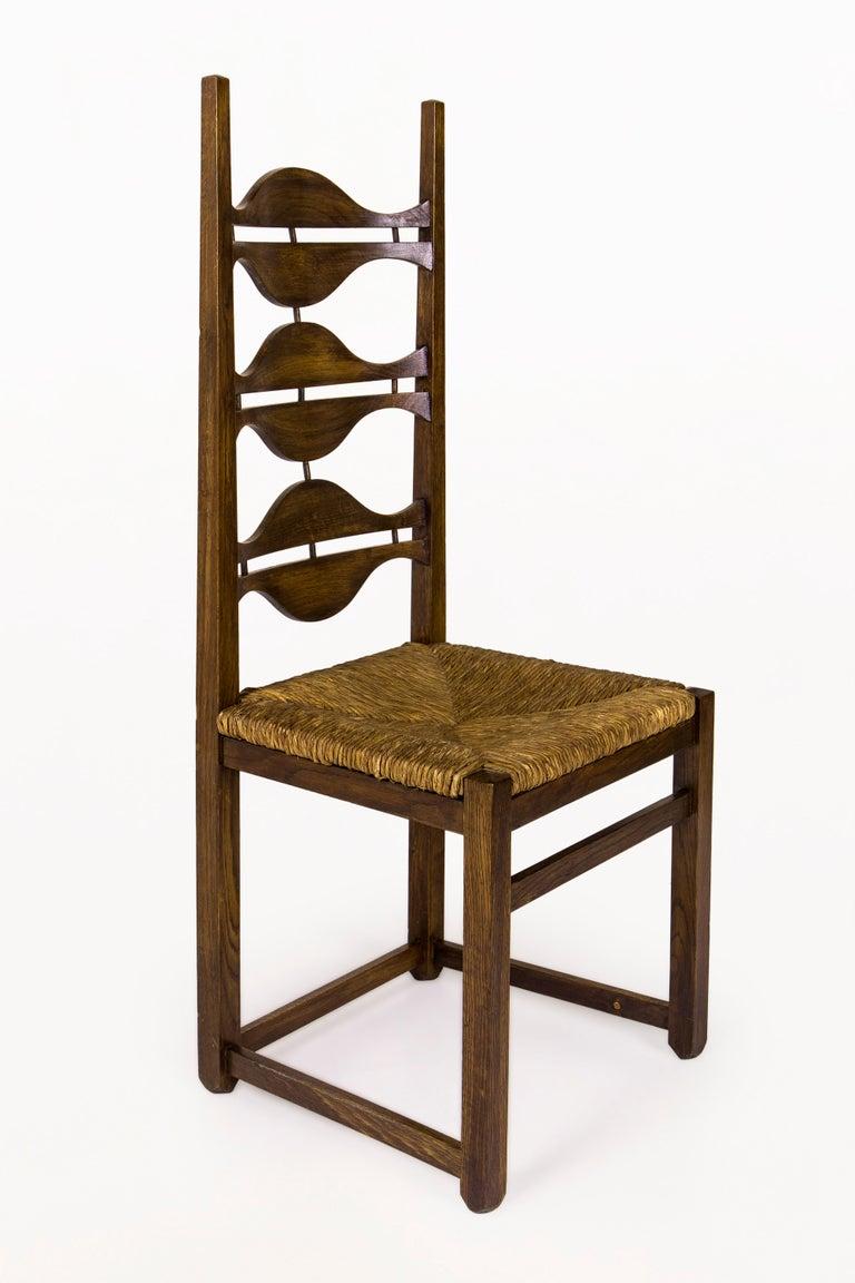 Mid-Century Modern Set of Eight Jordi Vilanova Dining Chairs, circa 1950, Spain For Sale
