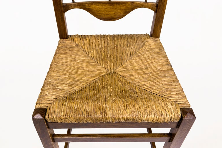 Set of Eight Jordi Vilanova Dining Chairs, circa 1950, Spain In Good Condition For Sale In Girona, Spain