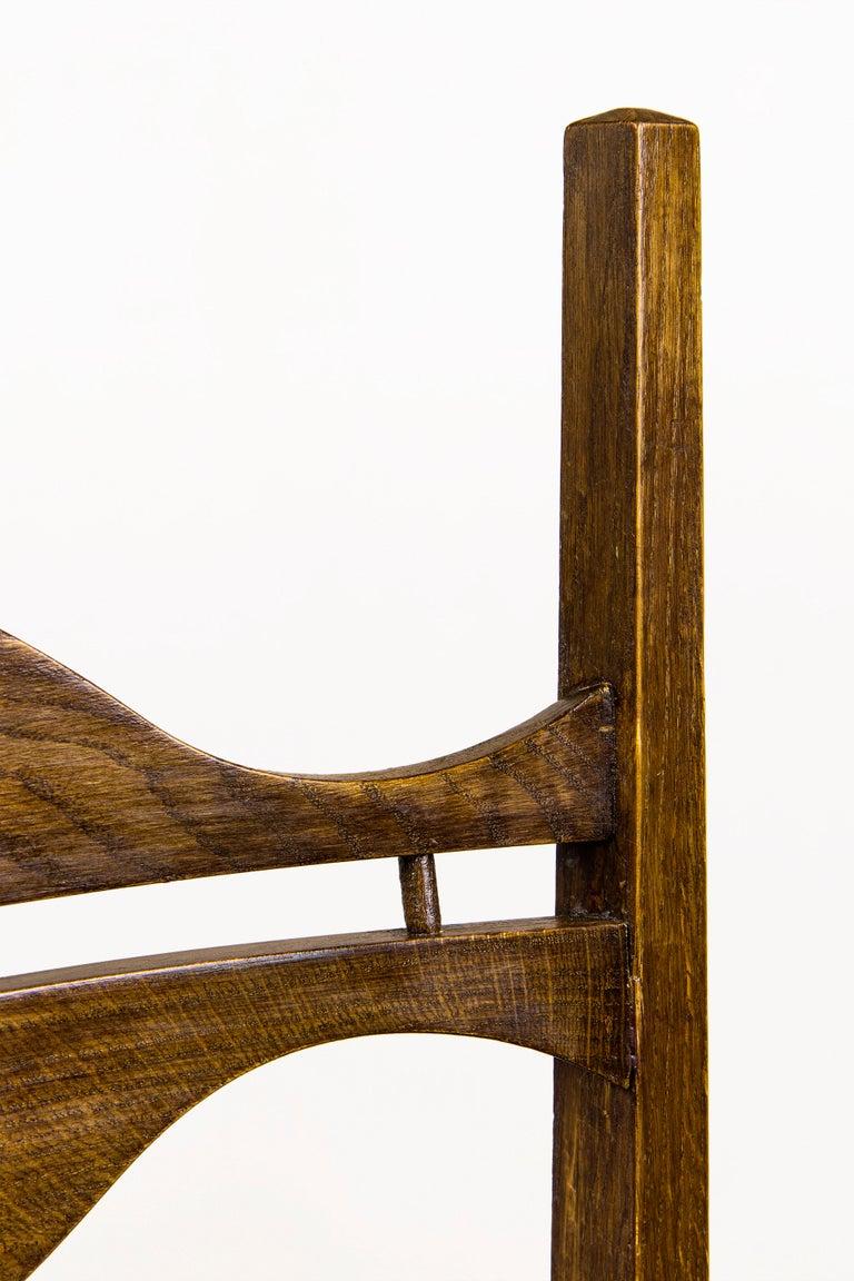Straw Set of Eight Jordi Vilanova Dining Chairs, circa 1950, Spain For Sale