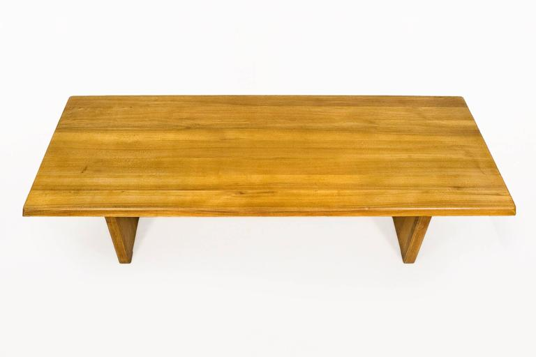 French Large Pierre Chapo Dining Table, circa 1960, France For Sale
