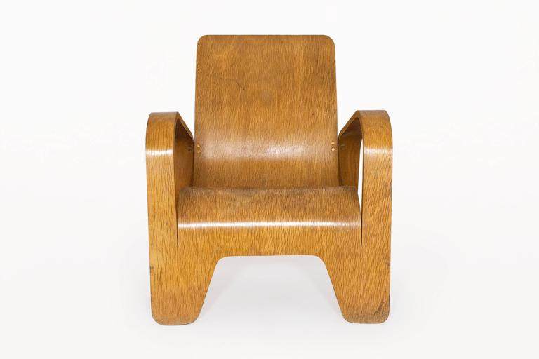 Mid-Century Modern Lounge Chair by Han Pieck for Lawo Ommen, circa 1940, Netherlands For Sale