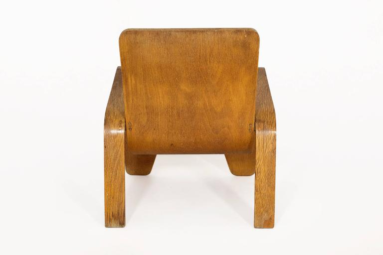 Dutch Lounge Chair by Han Pieck for Lawo Ommen, circa 1940, Netherlands For Sale