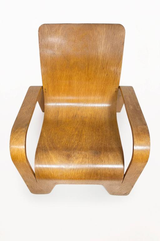 Laminated Lounge Chair by Han Pieck for Lawo Ommen, circa 1940, Netherlands For Sale
