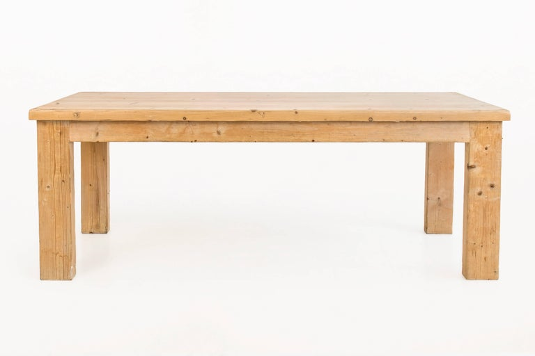Pine dining table by Guy Rey-Millet & Jean Prouvé
