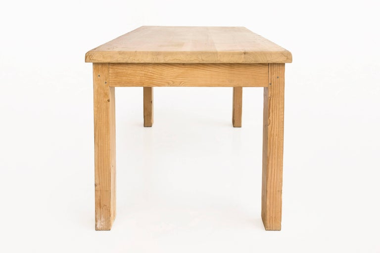 Mid-Century Modern Pine Dining Table by Guy Rey-Millet & Jean Prouvé, circa 1970, France For Sale