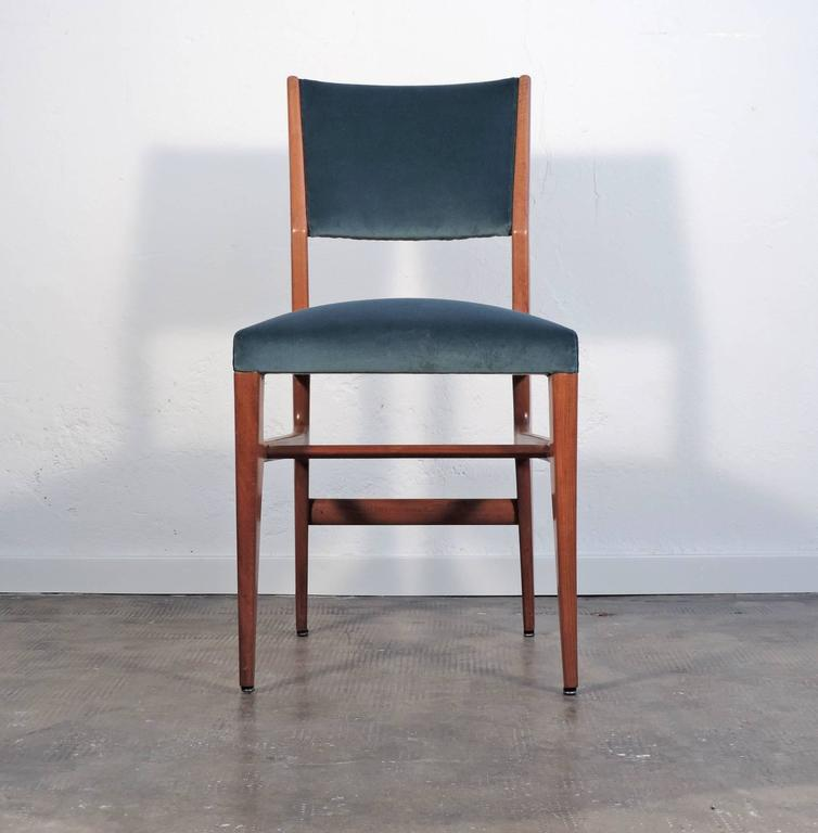 ccb7b8c70b Splendid Gio Ponti pair of chairs for Cassina. Modell no. 111 Newly  reupholstered.