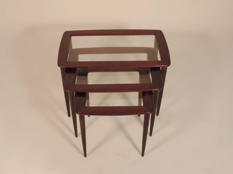 Mid-Century Modern Ico Parisi Nesting Tables for De Baggis For Sale