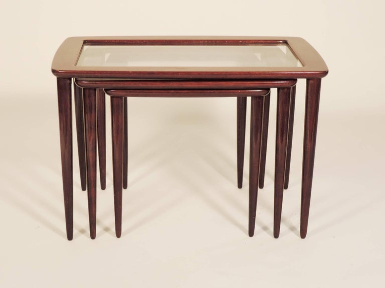 Italian Ico Parisi Nesting Tables for De Baggis For Sale