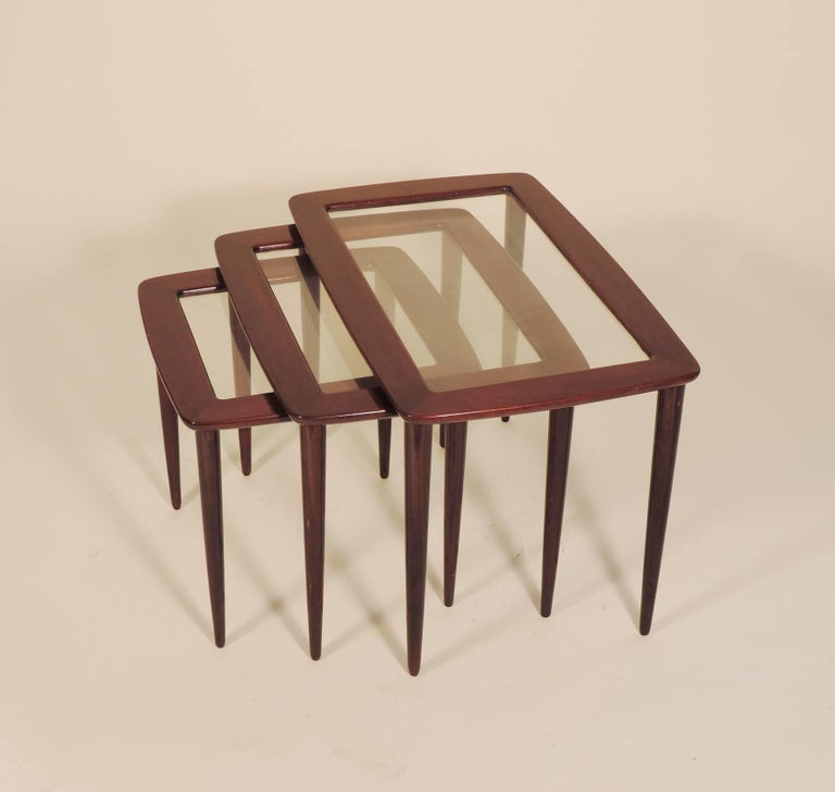 Ico Parisi Nesting Tables for De Baggis In Excellent Condition For Sale In Milan, IT