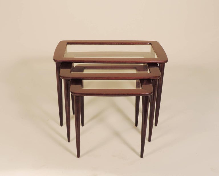 Mid-20th Century Ico Parisi Nesting Tables for De Baggis For Sale