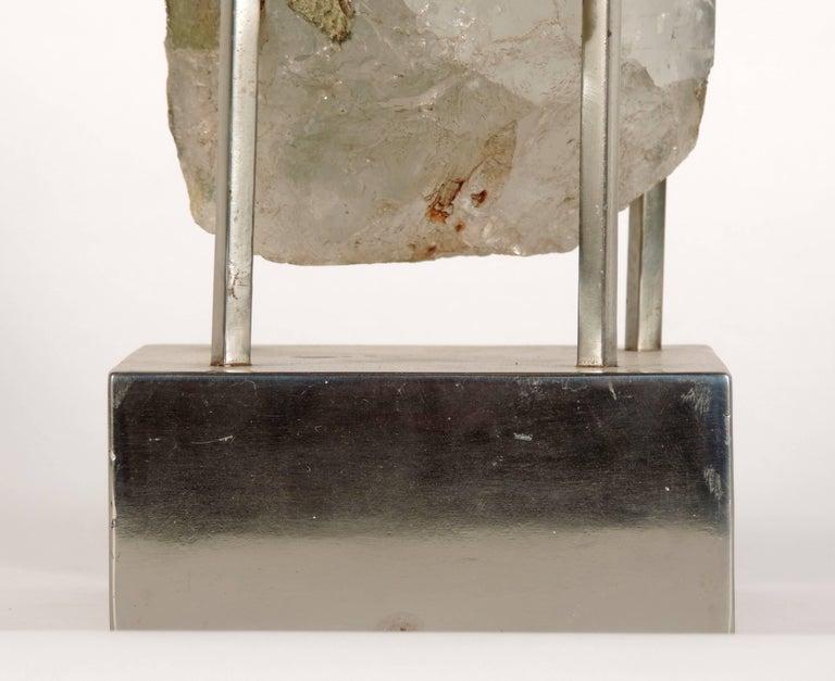 Italian Unique Carla Venosta, 1970s Rock Crystal Table Sculpture For Sale